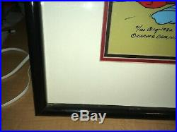 Chuck Jones Signed Daffy Duck Porky Pig Duck Dodgers Hand Painted Cel 71/100