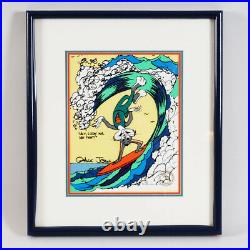 Chuck Jones Signed Hand Painted Bugs Bunny Cel Surfin Bugs Warner Brothers