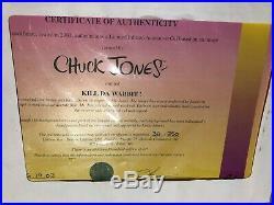 Chuck Jones Signed Kill Da Wabbit 2003 Warner Brothers Limited Edition of 250