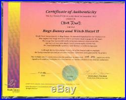 Chuck Jones Signed Limited Edition Cel Bugs Bunny And Witch Hazel II Framed