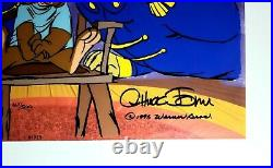 Chuck Jones Signed Painted Bear For Punishment Limited Edition Animation Cel