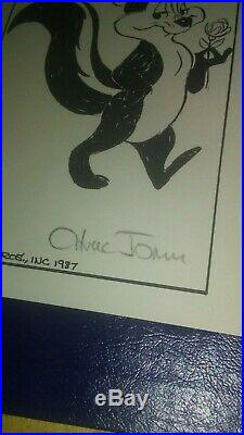 Chuck Jones Signed Pepe Le Pew Picture 5.5 X 8.5. Autographed Looney Tunes