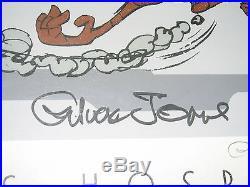 Chuck Jones Signed Print Children's Hospital Baby Road Runner in Egg Wile Coyote