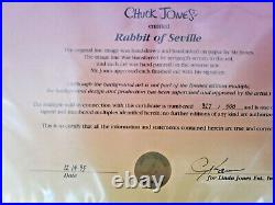 Chuck Jones Signed Rabbit Of Seville Hand-painted Limited Edition Cel 327/500
