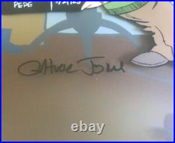 Chuck Jones Signed Rare Cel Sound Stage Bugs Bunny, Daffy, Pepe, Warner Brothers