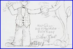 Chuck Jones Signed Sketch Bugs Bunny COA JSA