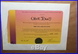 Chuck Jones Signed The Dot And The Line Framed Limited Cel Large Piece Coa