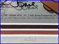 Chuck Jones Signed Warner Bros. Animation Cell. Elmer Fudd & Friends With COA