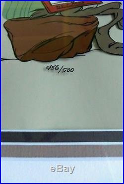 Chuck Jones Signed Wile E. Coyote Road Scholar Animation Cel Warner Bros #/500