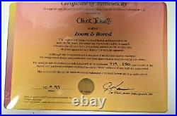 Chuck Jones Signed Zoom & Bored Limited Edition 219/250 Animation Cell
