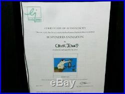 Chuck Jones Suspended Animation Cel Signed By Jones #493/750 Warner Bros Gem