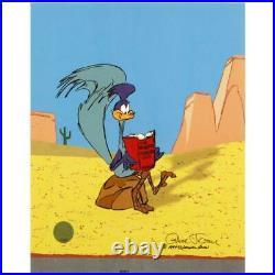 Chuck Jones The Neurotic Coyote Hand Signed painted Looney Tunes cel COA
