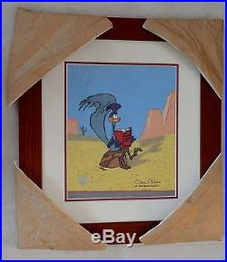 Chuck Jones The Nuerotic Coyote Animation Cel Signed/ #464/500/ Coa/ Prof Framed