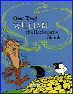 Chuck Jones. WILLIAM THE BACKWARDS SKUNK. 1st. Signed with drawing! 1986