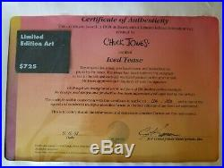 Chuck Jones Warner Bros 1998 Iced Tease Signed Animation Art Cel Pre-owned