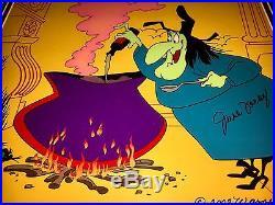 Chuck Jones Warner Bros Witch Hazel Cel Broomstick Bunny Signed June Foray Cell