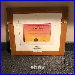 Chuck Jones Wile E Coyote Chariots Of Fur Framed Orig 1994 Production Cel Signed