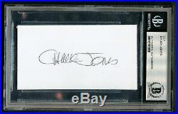 Chuck Jones (d2002) signed autograph 2x3.5 cut Looney Tunes Cartoonist BAS Slab