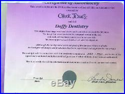 Chuck Jones limited edition cell. Signed and COA. Bugs Bunny Dentistry. 240/500