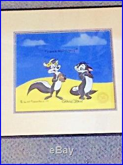 Chuck Jones limited edition signed Pepe Le Pew and Fifi only 200 made very rare