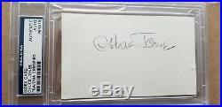 Chuck Jones signed 3x5 card Bugs Bunny Daffy Duck Looney Tunes PSA DNA