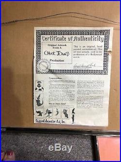 Chuck Jones signed Bugs Bunny Original Production Animation Cel