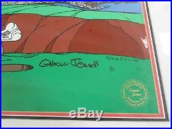 Chuck Jones signed Bugs Bunny The Great Chase limited edition cel 1983