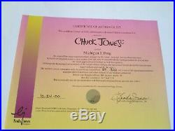 Chuck Jones signed Michigan J. Frog limited edition cel 200 made retail $995
