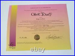 Chuck Jones signed Pepe Le Pew animation limited edition cel 200 made 50% off