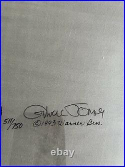 Chuck Jones signed Pewlitzer Prize Sold Out Ltd Edition Serigraph Cel LOA