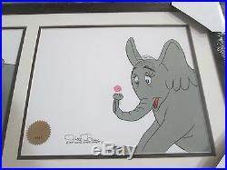 Chuck Jones signed animation Cel Horton Hears a Who 1970 3 cels