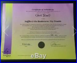 Chuck Jones signed cel Sniffles & The Bookworm Toy Trouble Very rare LE 22/41