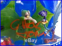 Chuck jones signed autograph looney tunes road runner wile e. Coyote figure JSA