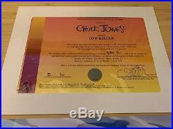 Chuck jones signed cel art Off Kilter