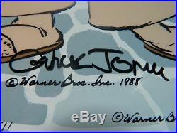 DAFFY CAVALIER Hand Signed Chuck Jones. Ltd. Ed. Cel Daffy Duck Looney Tunes
