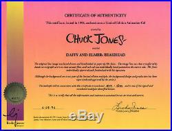 DAFFY & ELMER BEAKHEAD RARE Warners Ltd Ed CEL Signed CHUCK JONES