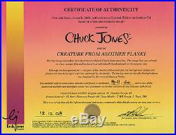 DUCK DODGERS Creature From Another Planet RARE Ltd Ed CEL Signed CHUCK JONES