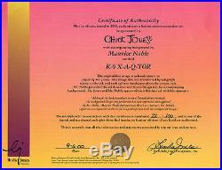 DUCK DODGERS K-9 X-A-Q-TOR RARE Warners Ltd Ed CEL Signed CHUCK JONES