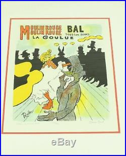 Daffe Le Moulin Rouge La Goulue By Chuck Jones Signed Framed Ltd Edition Litho