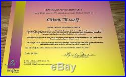 Daffy Duck Cel Warner Brothers Impossible Dream Signed Chuck Jones Rare Cell