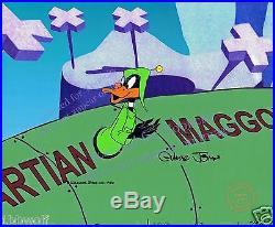 Daffy Duck Dodgers cel signed Chuck Jones Warner Bros EXCLUSIVE Background