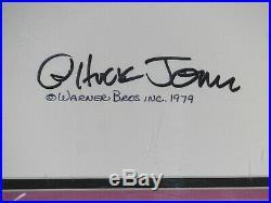 Daffy Duck Original Animation Cel Signed Chuck Jones 1979 Linda Jones
