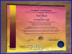 Daffy Duck Porky Pig Chuck Jones Signed $1.25 Quarter Staff 1994 Limited Edition