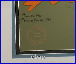 Daffy Duck Running Warner Borthers Limited Edition Cel, Signed by Chuck Jones
