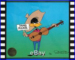 Daffy Duck Sound Please Chuck Jones Original Animation Cel Signed Framed COA