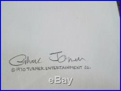 Dr. Seuss Chuck Jones signed Drawing Horton Hears A Who 1970 cel