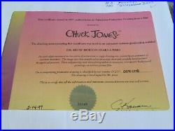 Dr. Seuss Chuck Jones signed Drawing Horton Hears A Who 1970 cel Wickersham Bros