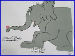 Dr. Seuss Chuck Jones signed Horton Hears A Who 1970 cel