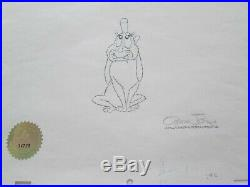 Dr. Seuss Chuck Jones signed Max cel drawing The Grinch Who Stole Christmas