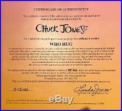 Dr. Seuss Grinch & Cindy Lou Who WHO HUG Ltd. Ed. Print Signed by Chuck Jones